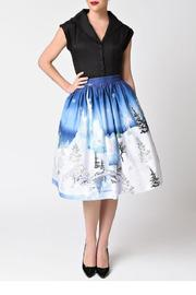 Unique Vintage Winter Kingdom Skirt - Product Mini Image