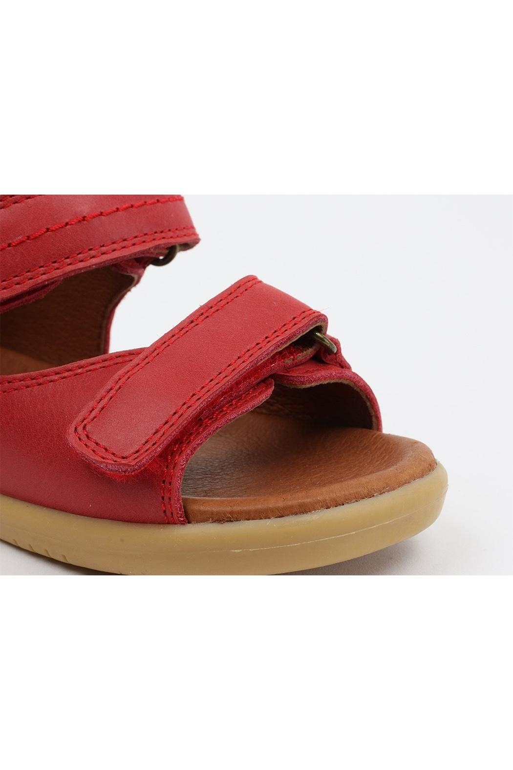 Bobux Unisex Driftwood Red-Sandals - Side Cropped Image
