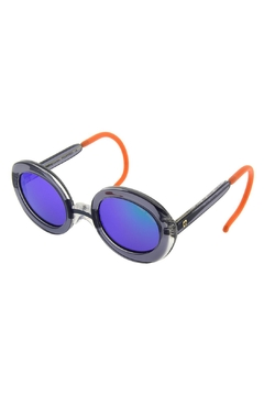 Shoptiques Product: Unisex Grey Round-Sunglasses