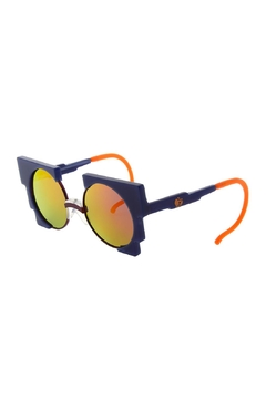 Shoptiques Product: Unisex Navy-Blue Sunglasses