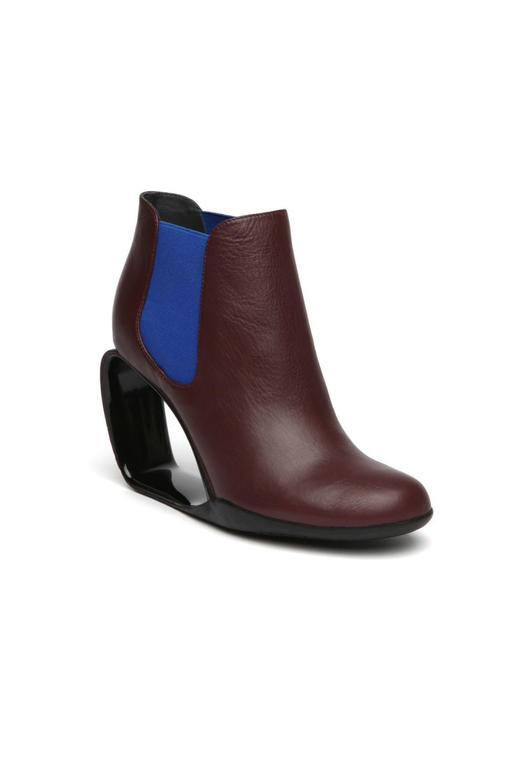 United Nude Burgundy Leather Bootie - Front Full Image