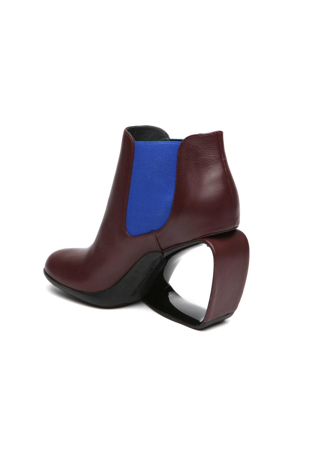 United Nude Burgundy Leather Bootie - Side Cropped Image