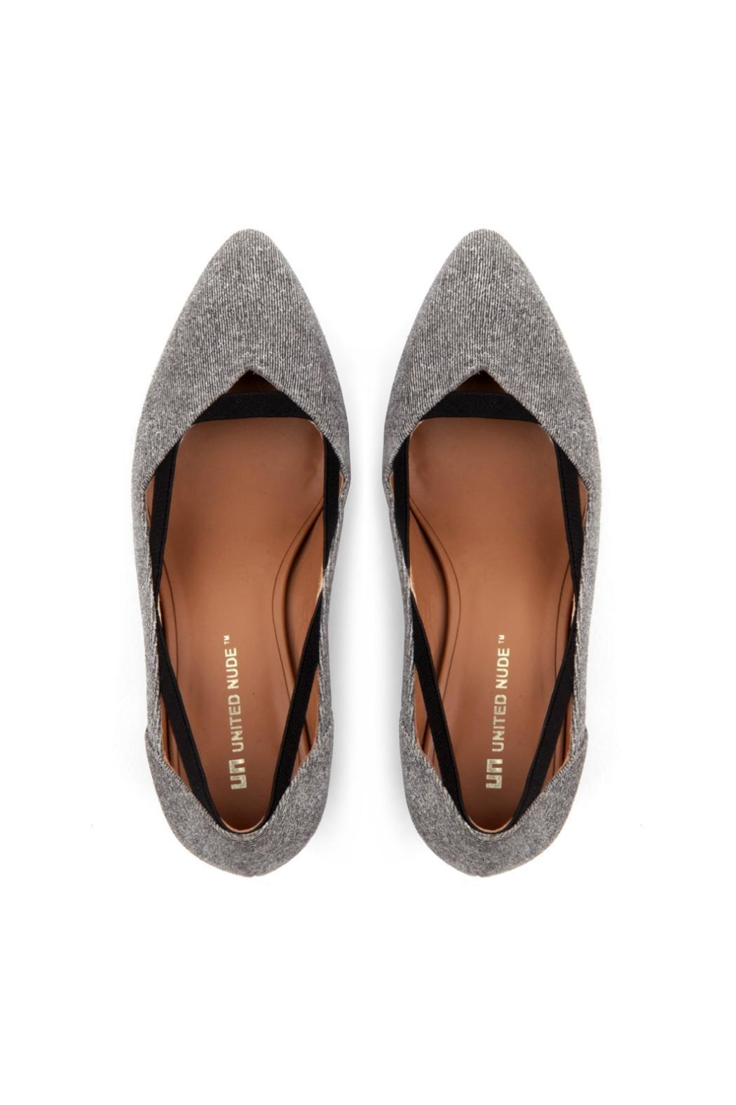 United Nude Grey Pump - Front Full Image