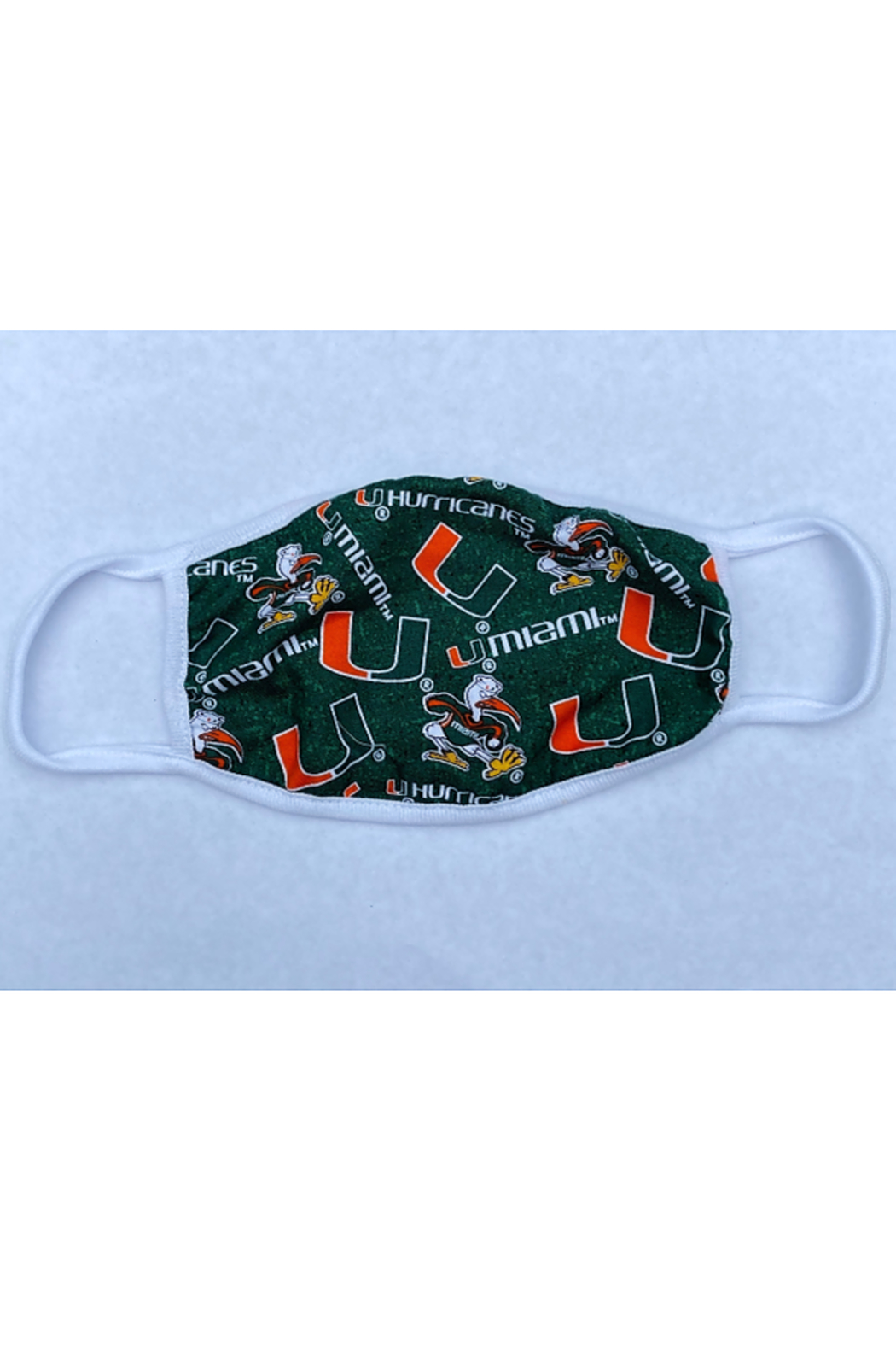 Bedford Basket University of Miami Face Mask - Front Cropped Image