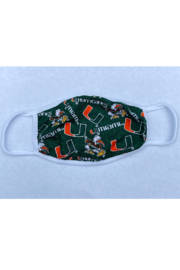 Bedford Basket University of Miami Face Mask - Front cropped