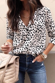 Unknown Factory Animal Print Blouse - Front cropped