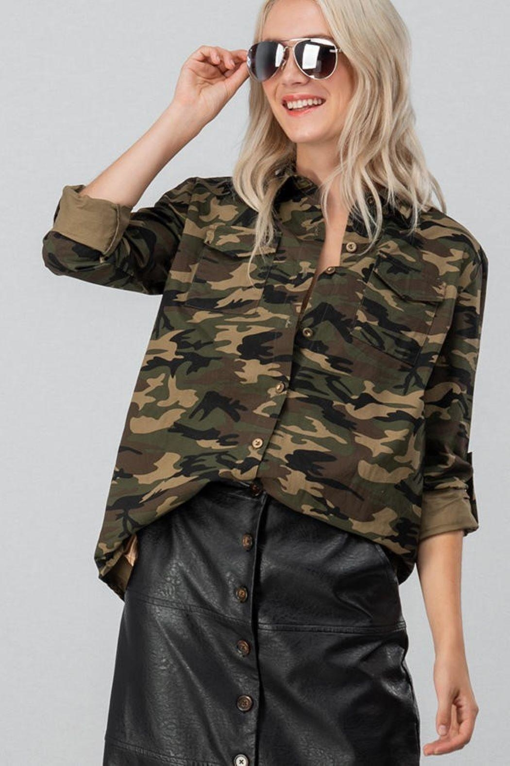 Unknown Factory Button Down Blouse - Side Cropped Image
