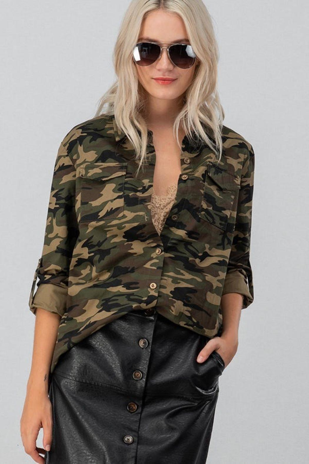 Unknown Factory Button Down Blouse - Main Image