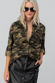 Unknown Factory Button Down Blouse - Front cropped