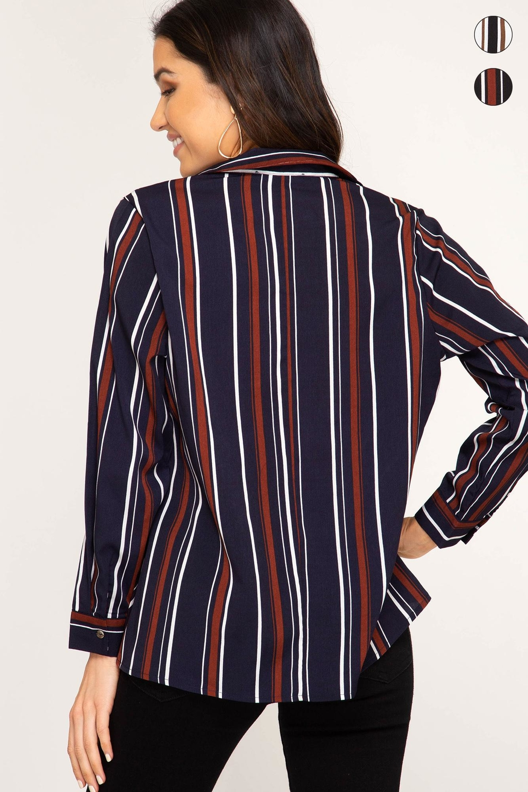 Unknown Factory Fall Blouse - Front Full Image