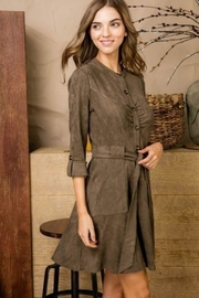 Unknown Factory Fall Suede Dress - Product Mini Image