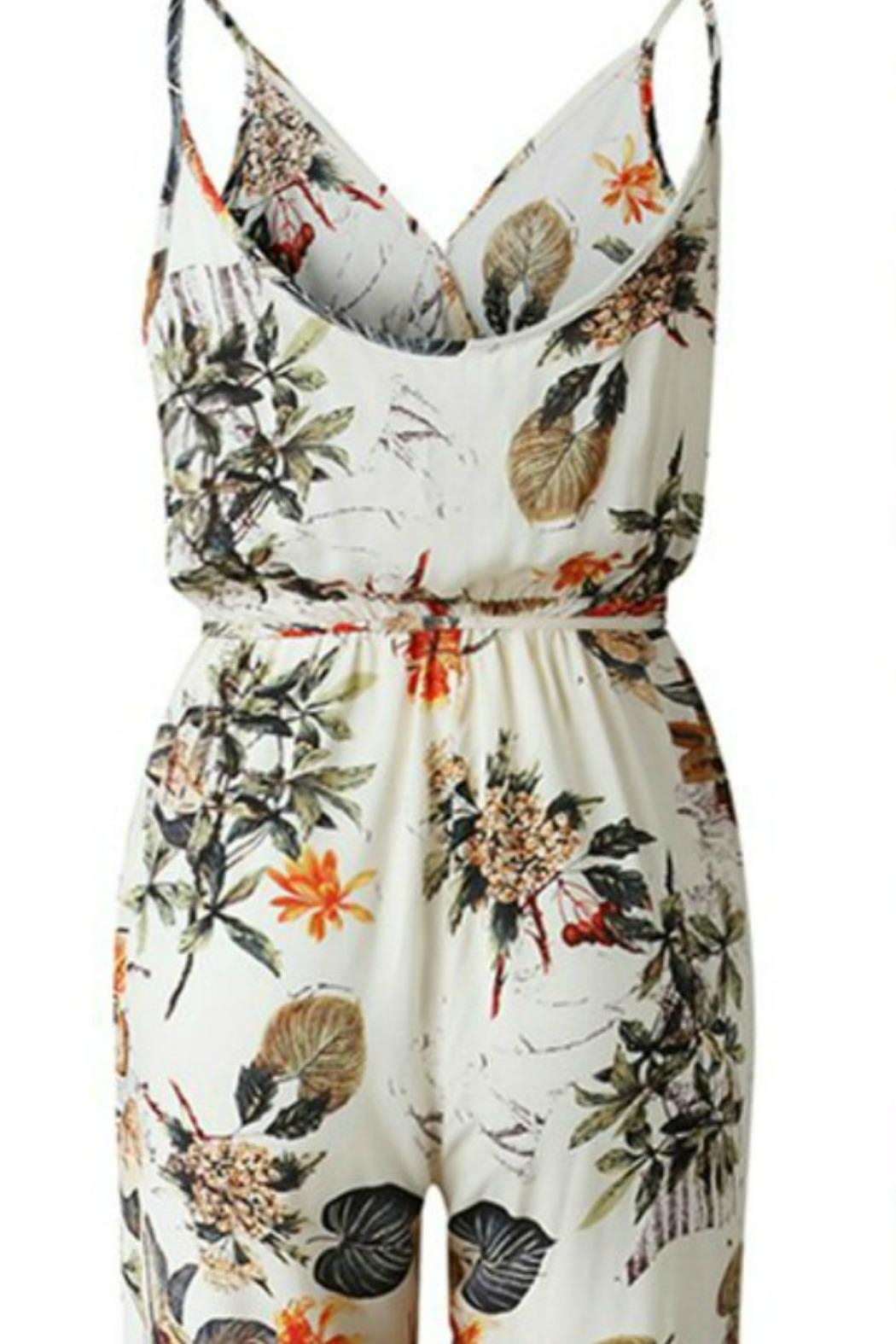 Unknown Factory Floral Print Jumpsuit - Front Full Image