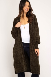 Unknown Factory Long Chenille Cardigan - Product Mini Image