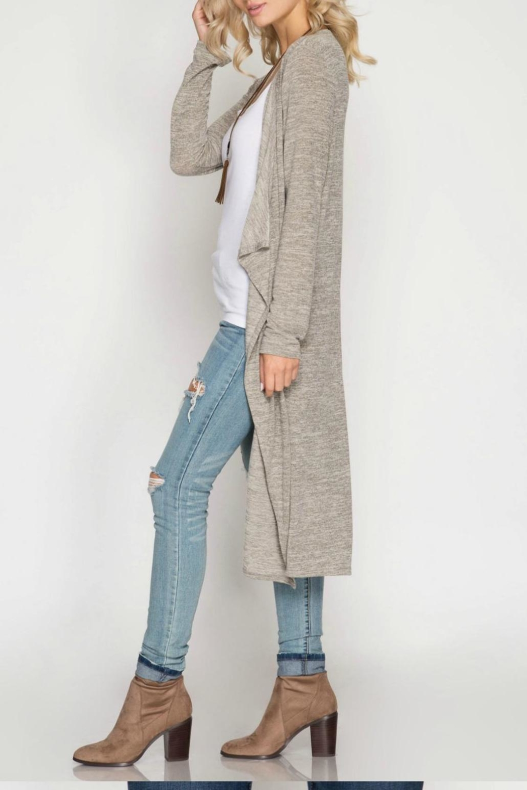Unknown Factory Long Sleeve Cardigan - Front Full Image