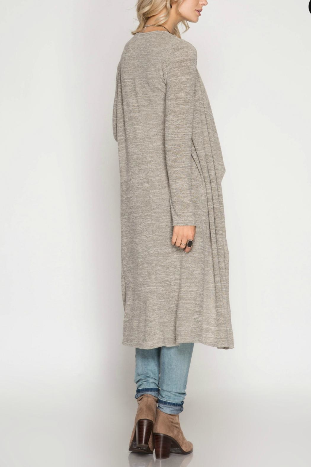 Unknown Factory Long Sleeve Cardigan - Side Cropped Image