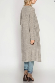 Unknown Factory Long Sleeve Cardigan - Side cropped
