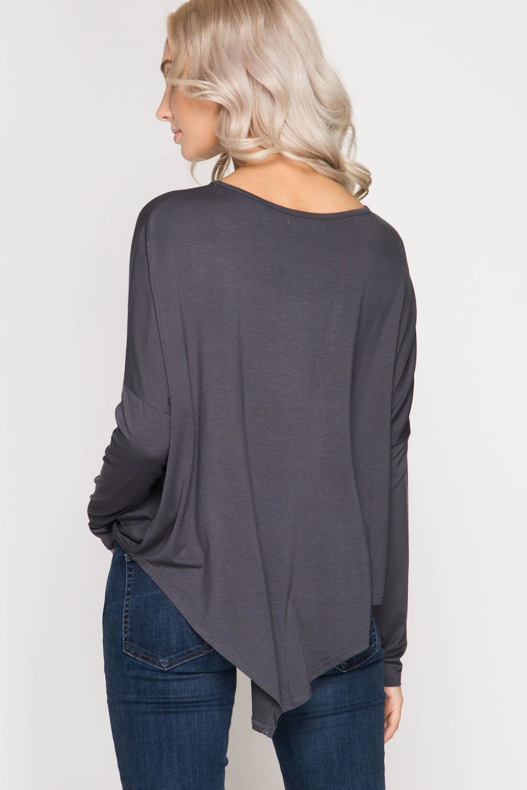 Unknown Factory Longsleeve Asymmetrical Top - Side Cropped Image