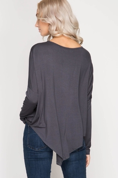 Unknown Factory Longsleeve Asymmetrical Top - Alternate List Image