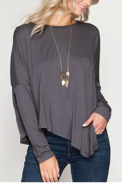 Shoptiques Product: Longsleeve Asymmetrical Top