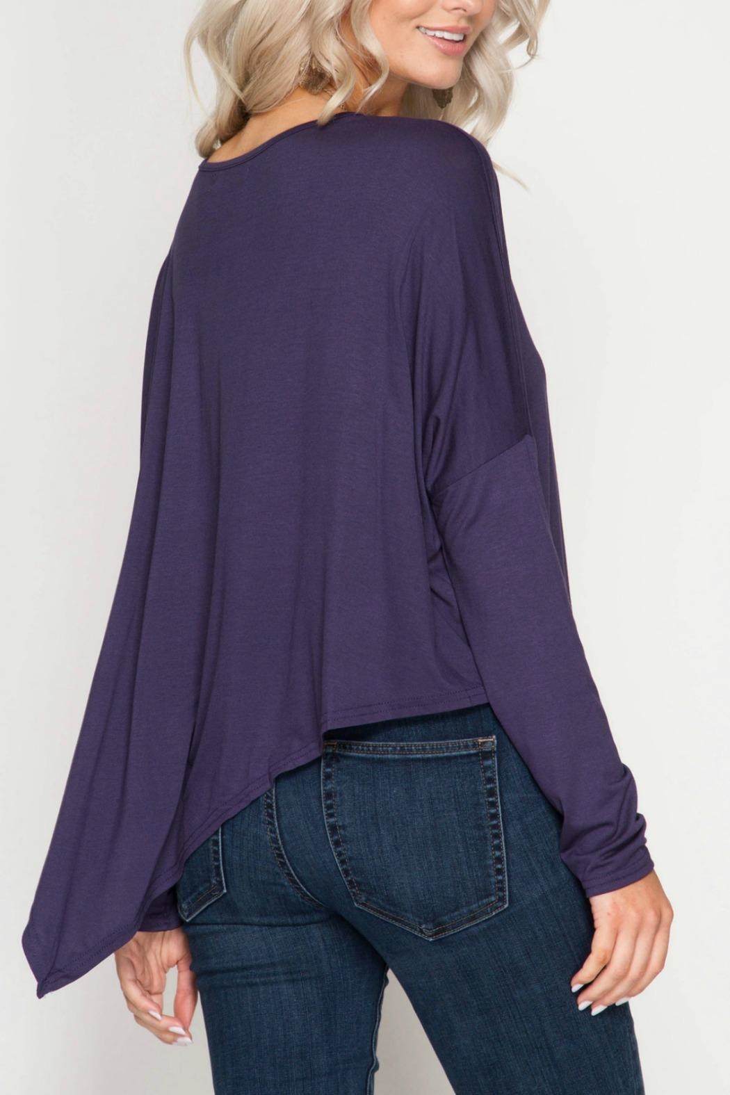 Unknown Factory Longsleeve Asymmetrical Top - Front Full Image