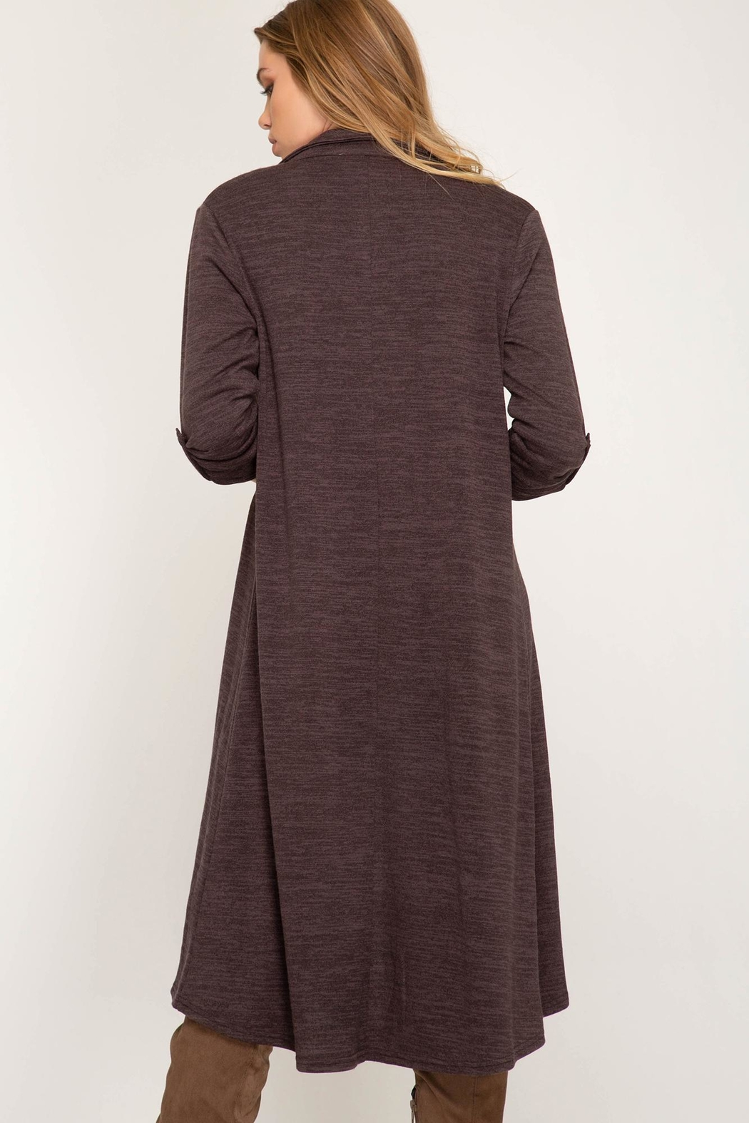 Unknown Factory Mauve Duster - Front Full Image