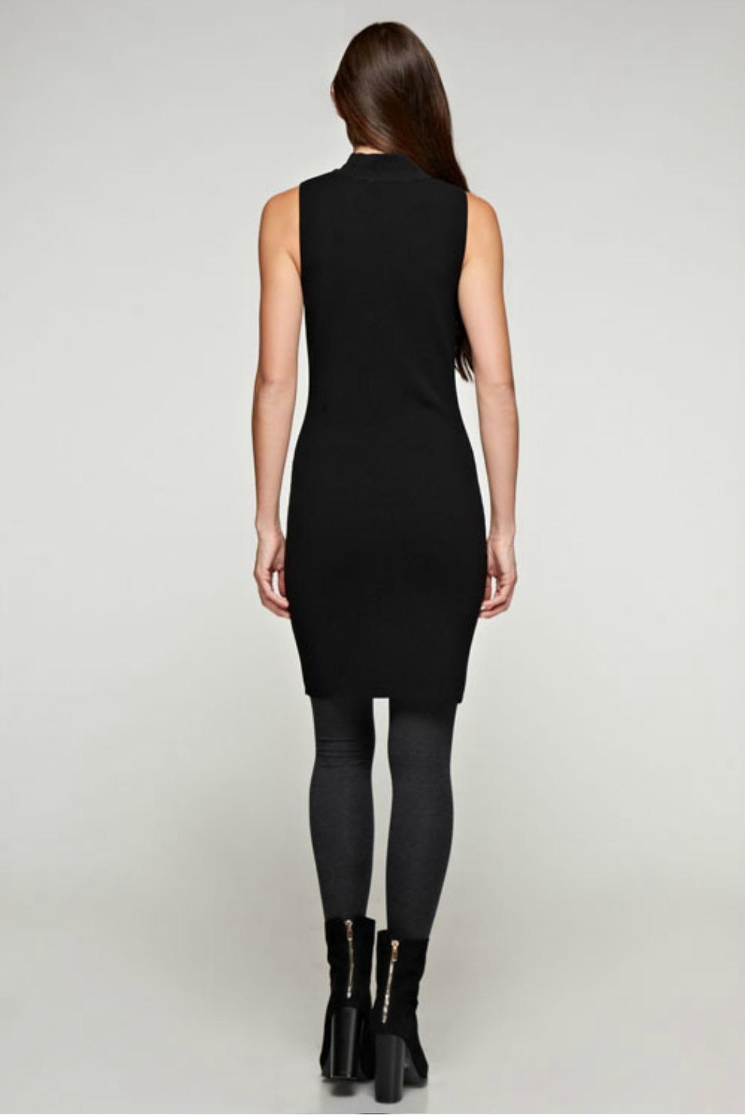 Unknown Factory Mock Turtleneck Dress - Side Cropped Image