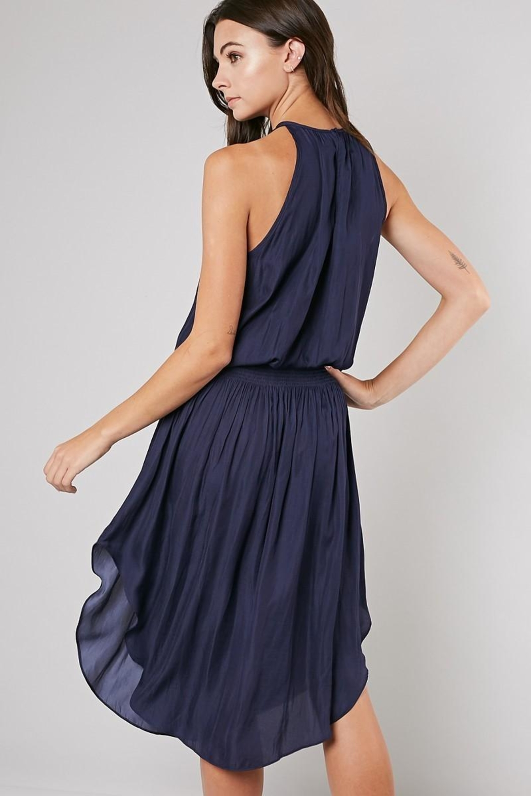 Unknown Factory Navy Dress - Front Full Image