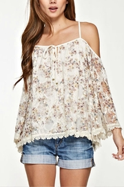Unknown Factory Lace Trim Blouse - Product Mini Image
