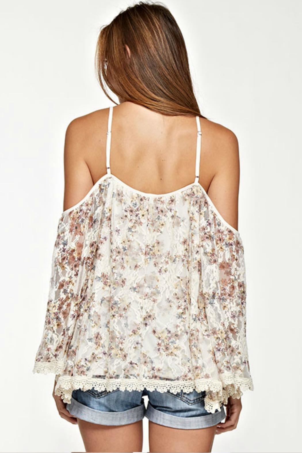 Unknown Factory Lace Trim Blouse - Front Full Image