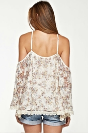 Unknown Factory Lace Trim Blouse - Front full body