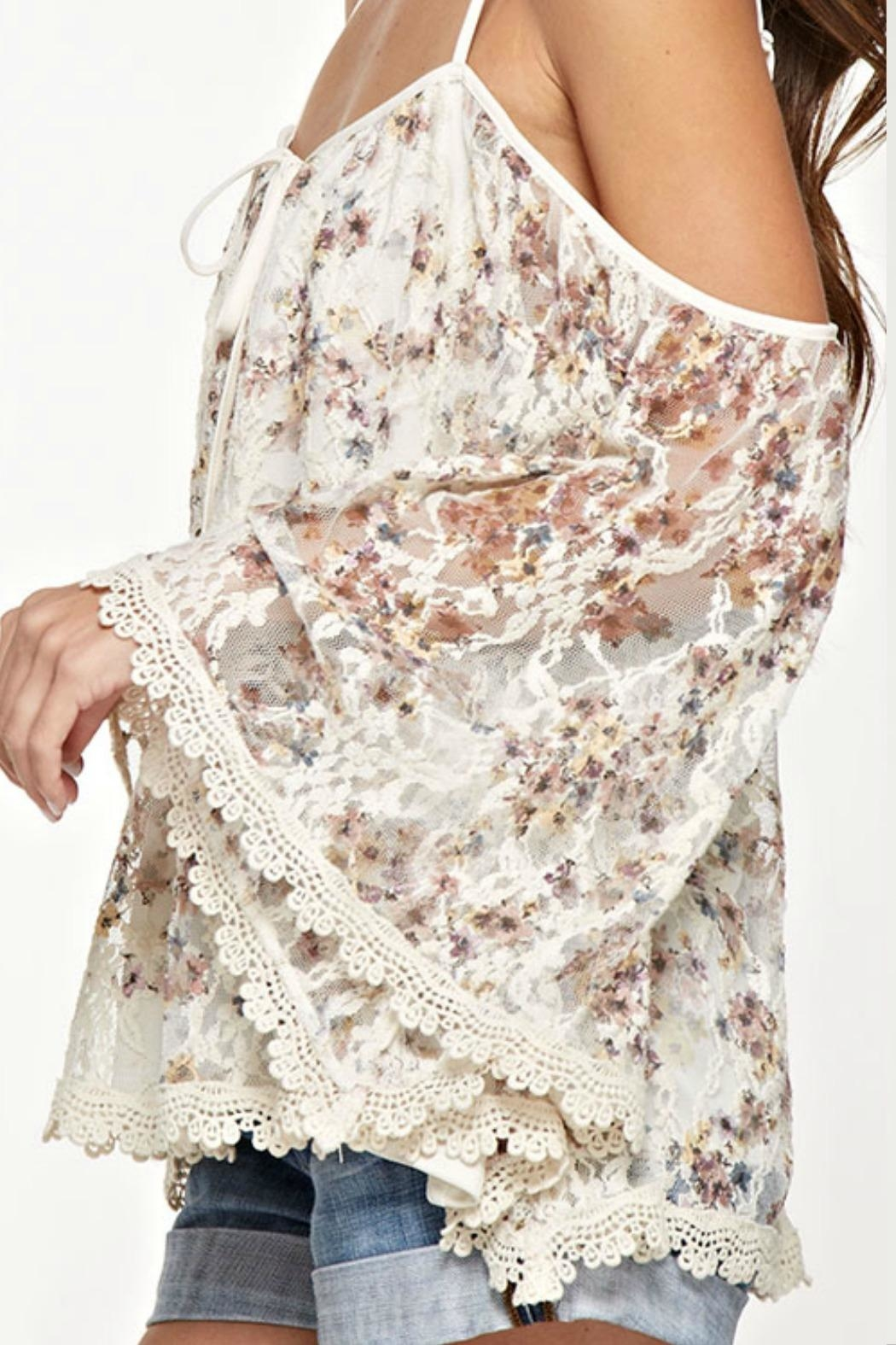 Unknown Factory Lace Trim Blouse - Side Cropped Image