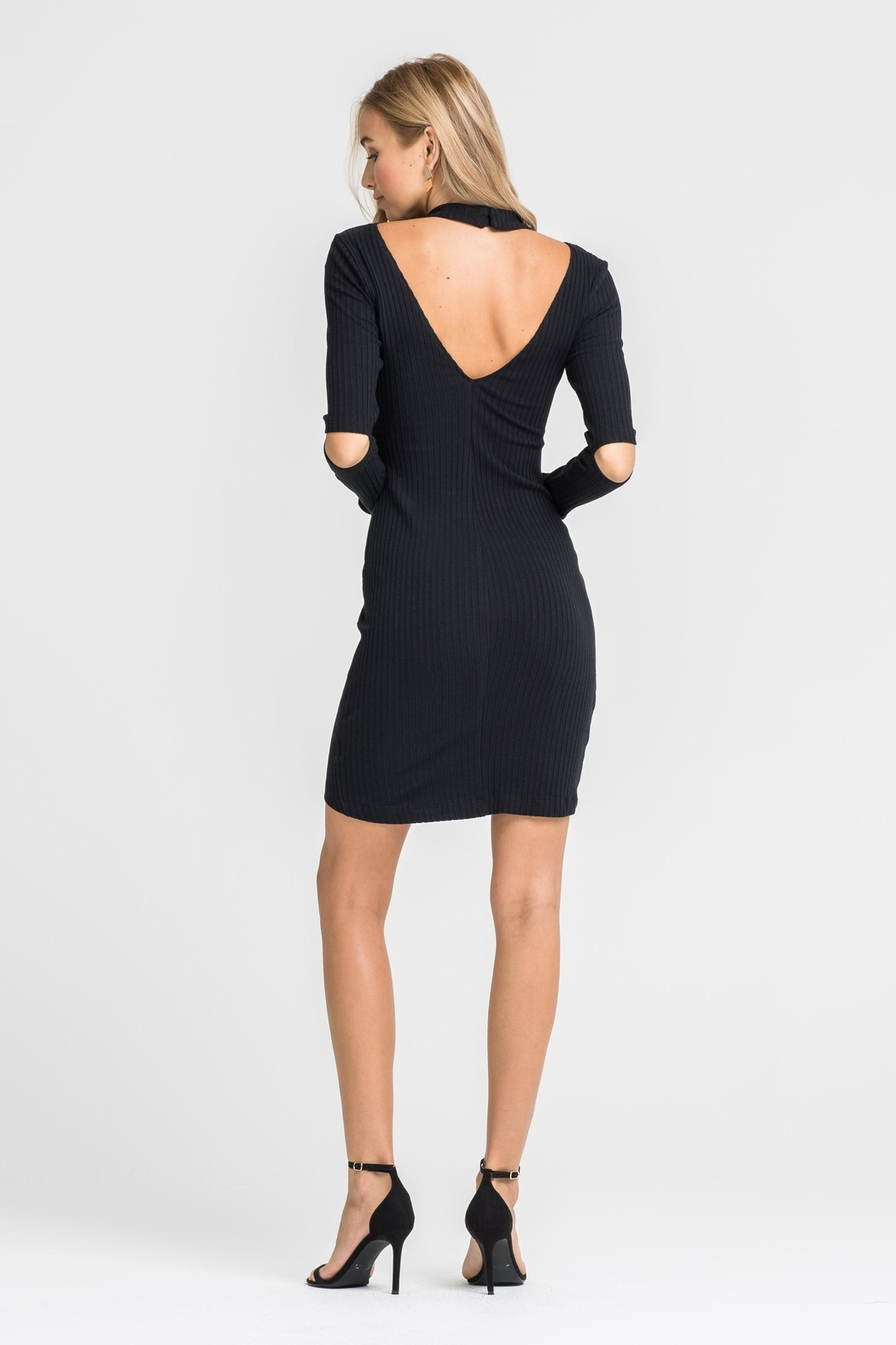 Unknown Factory Black Sweater Dress - Front Full Image