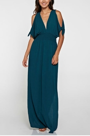 Unknown Factory Blue Cold Shoulder Dress - Product Mini Image