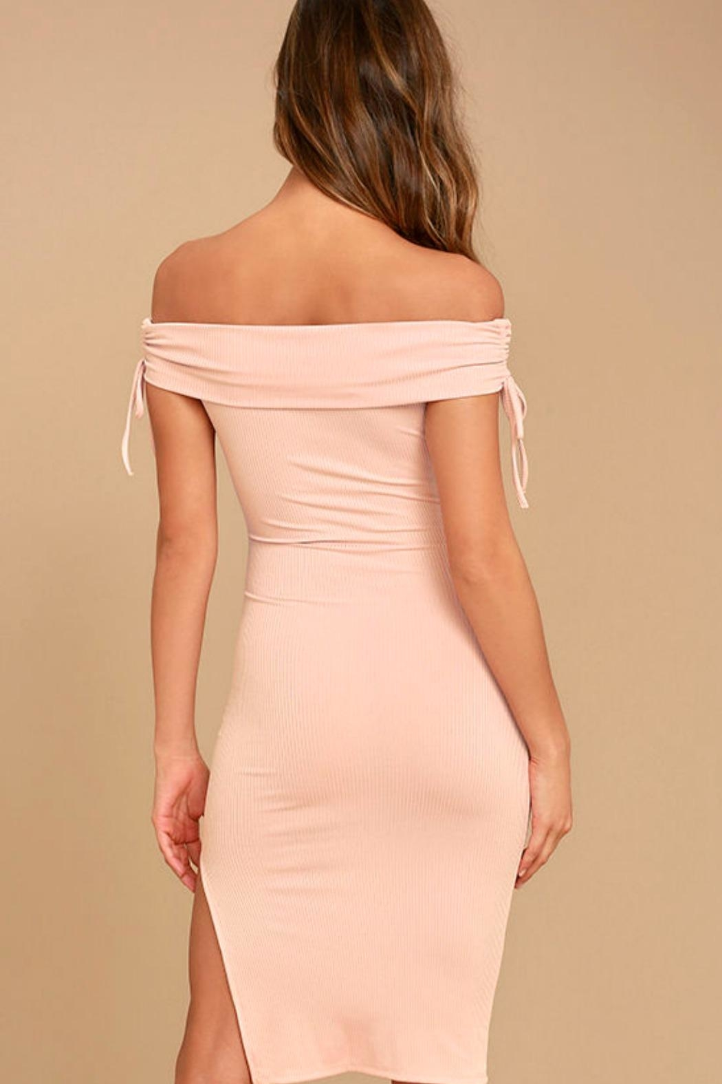 Unknown Factory Off-the-Shoulder Dress - Front Full Image