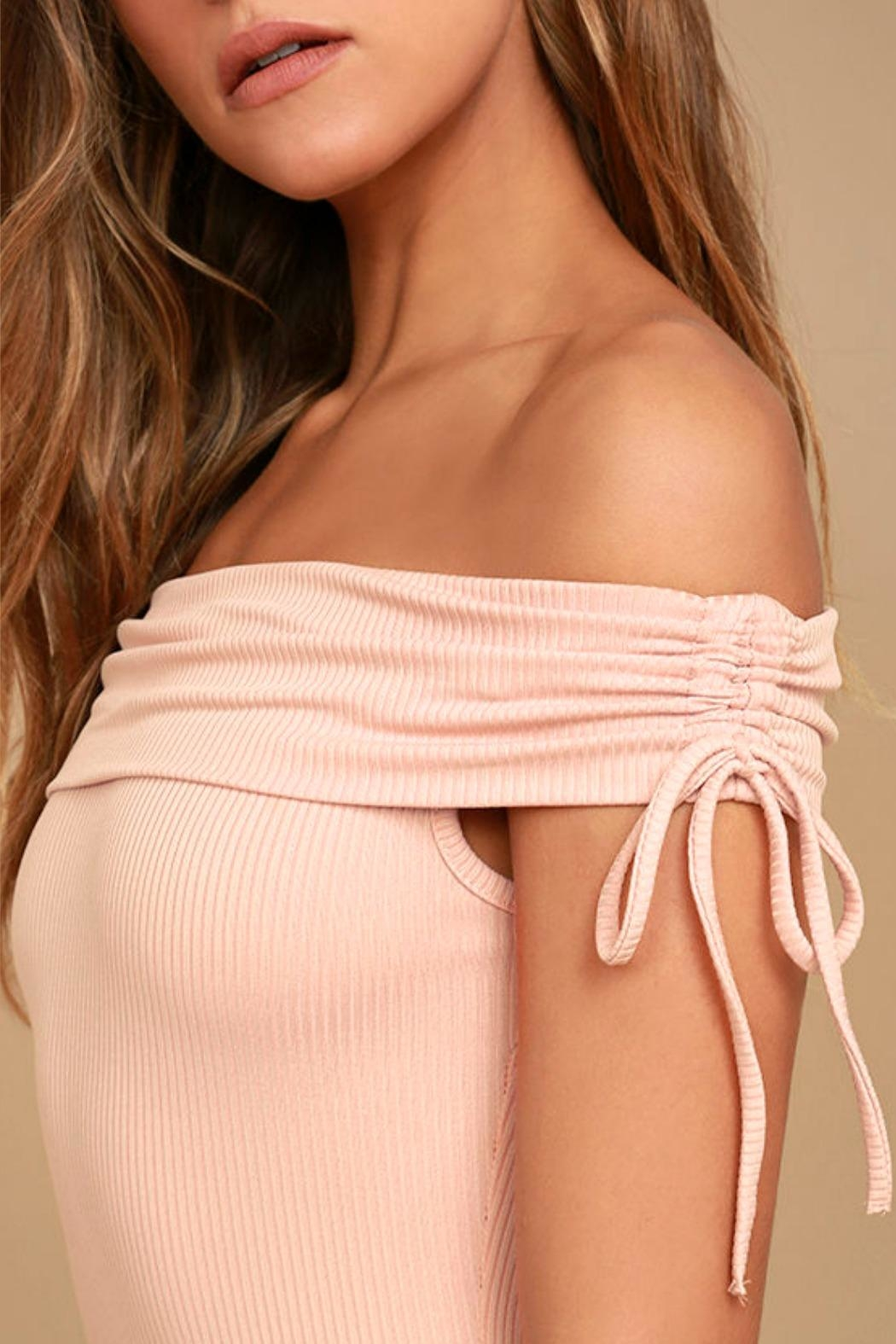 Unknown Factory Off-the-Shoulder Dress - Side Cropped Image