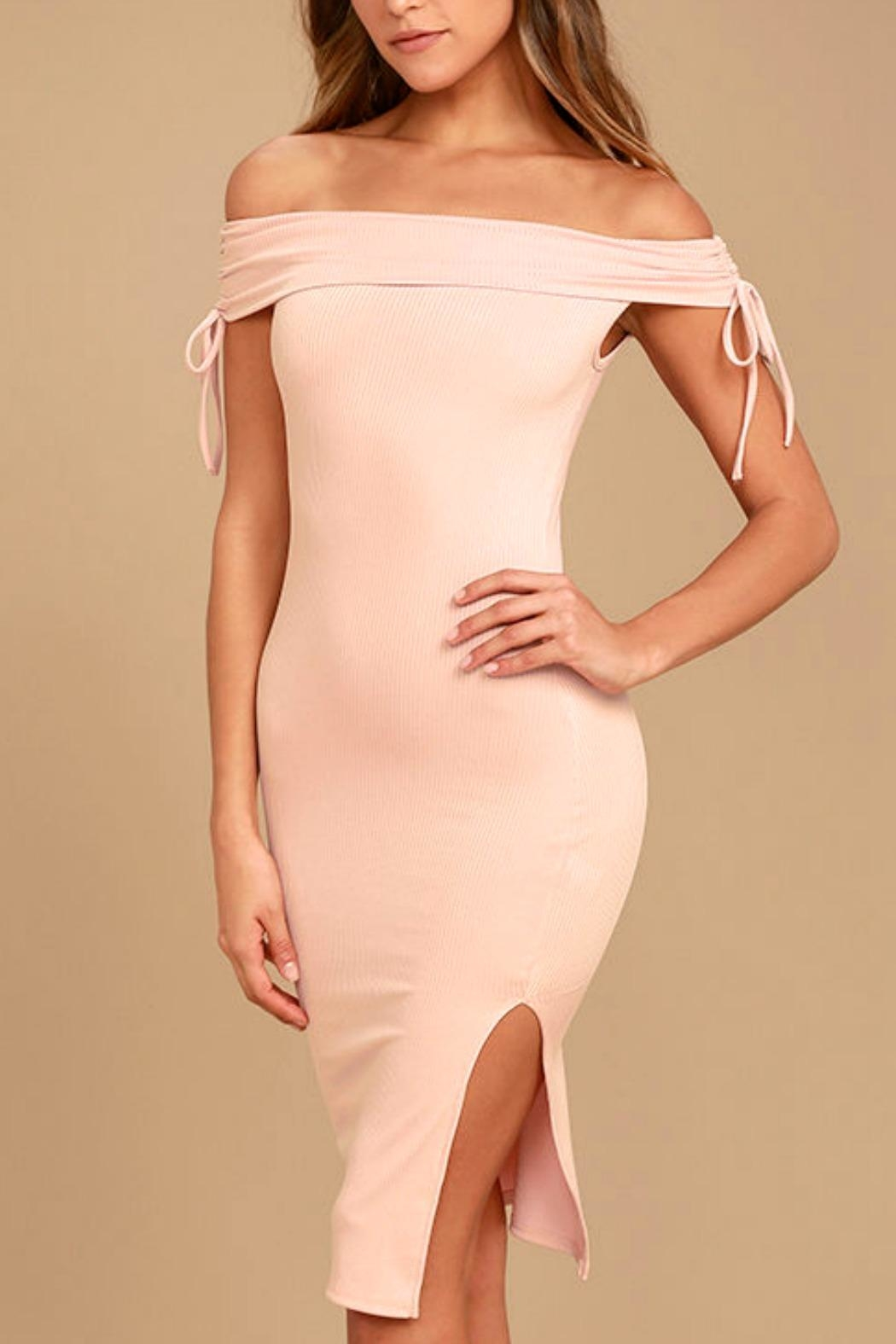 Unknown Factory Off-the-Shoulder Dress - Main Image