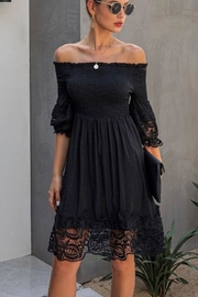 Unknown Factory Off Shoulder Lace - Front cropped