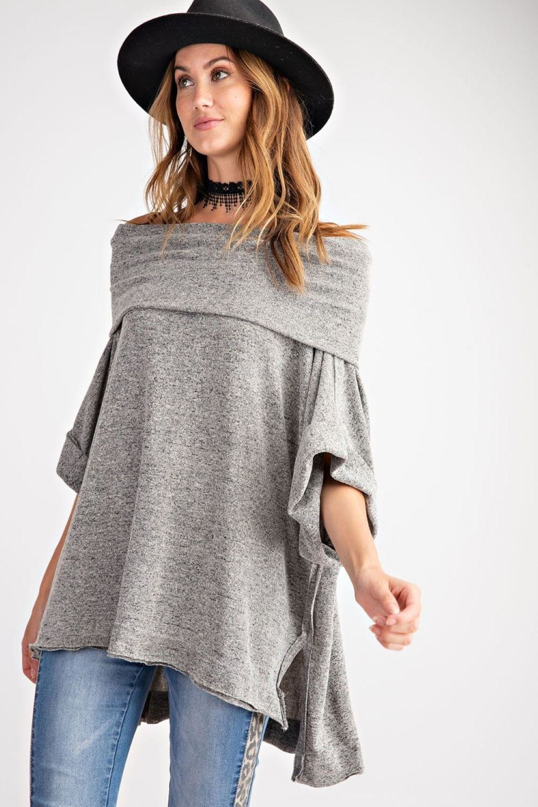 Unknown Factory Off Shoulder Sweater - Front Full Image