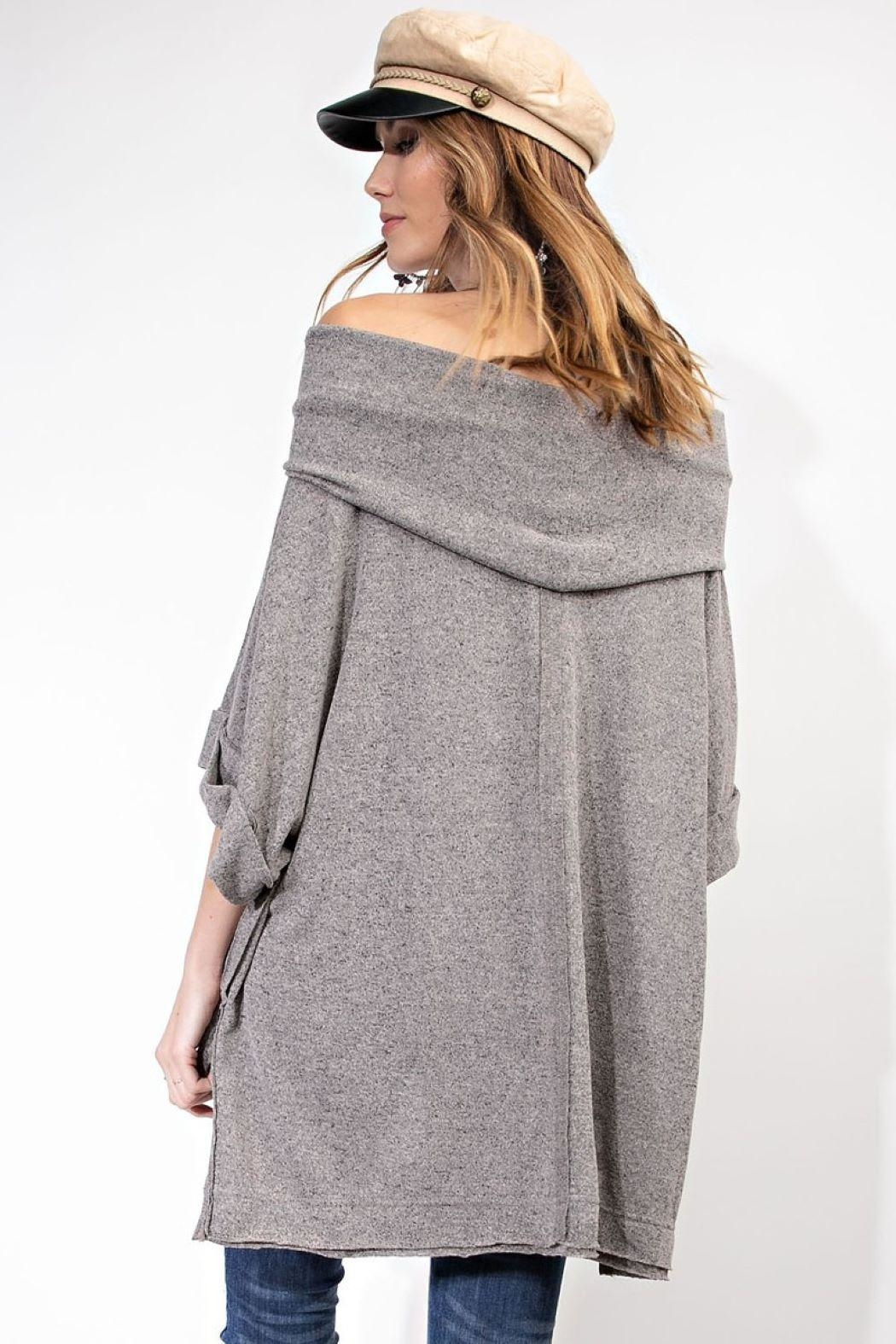 Unknown Factory Off Shoulder Sweater - Back Cropped Image