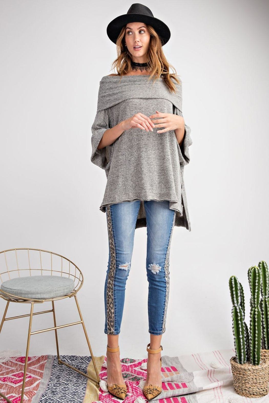 Unknown Factory Off Shoulder Sweater - Side Cropped Image