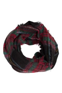 Unknown Factory Plaid Infinity Scarf - Alternate List Image