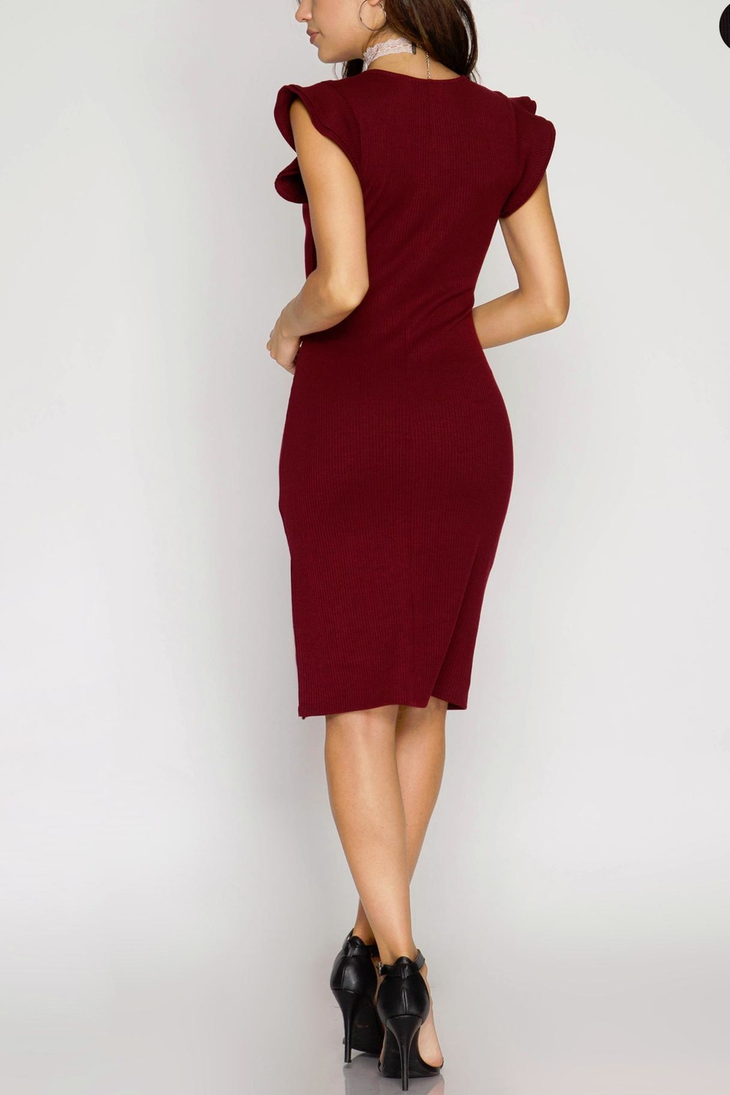 Unknown Factory Rafa Bodycon Dress - Side Cropped Image