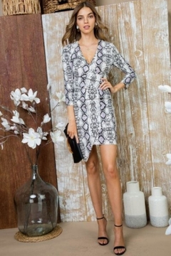 Unknown Factory Snakeskin Print Dress - Product List Image