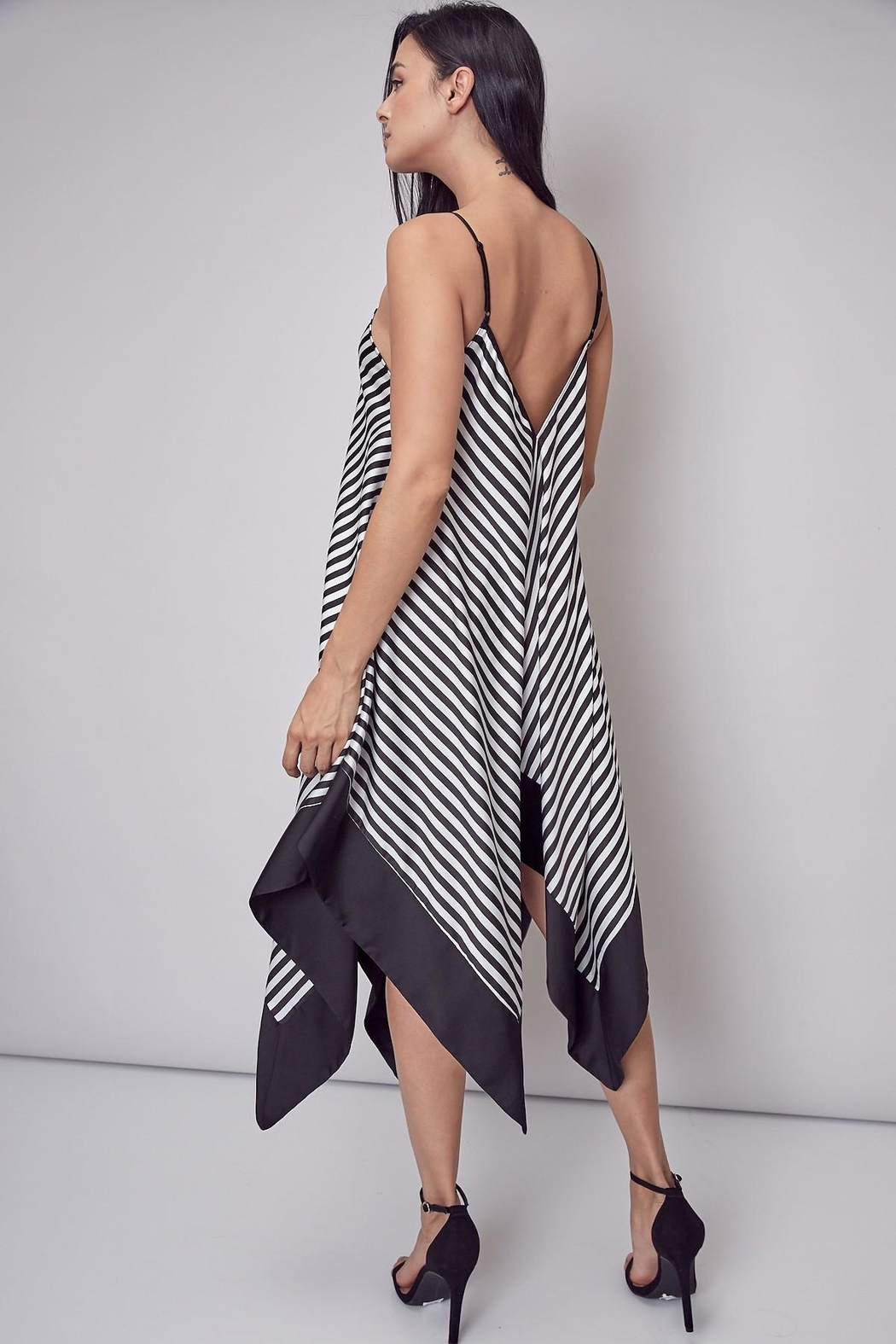 Unknown Factory Stripe Handkerchief Maxi - Front Full Image