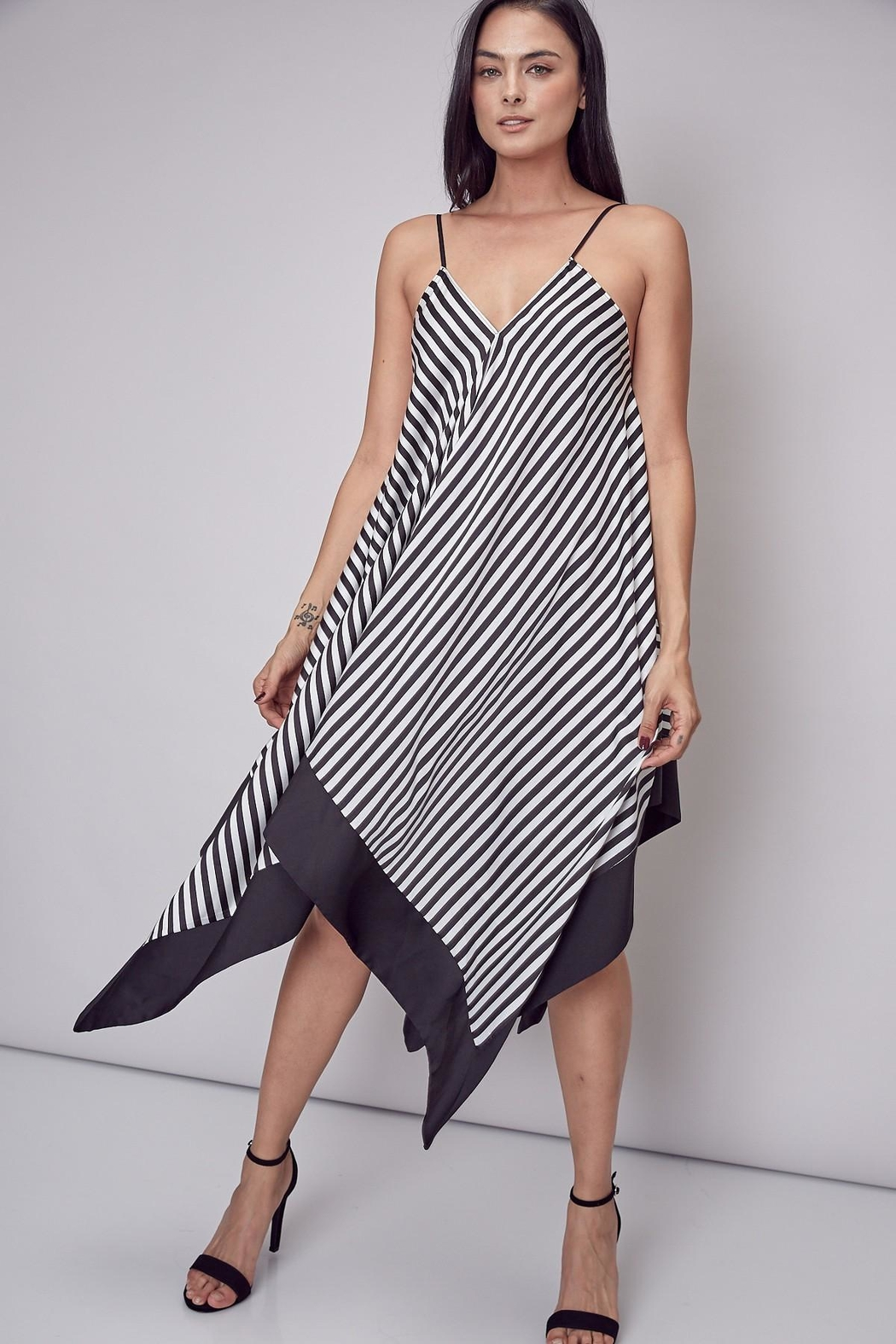 Unknown Factory Stripe Handkerchief Maxi - Front Cropped Image