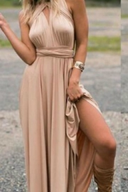 Unknown Factory Taupe Halter Style Dress - Product Mini Image