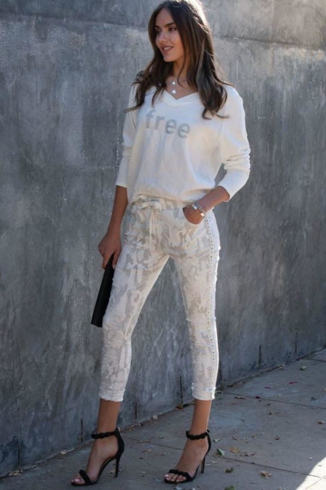 Unknown Factory White Camo Jeans - Main Image