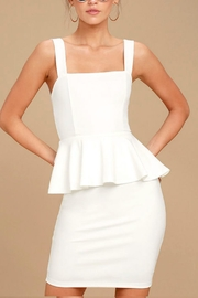 Unknown Factory White Peplum Dress - Front cropped