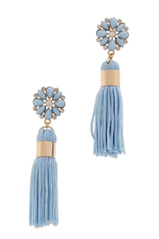 Unlabel Flower Blue Tassels - Product Mini Image
