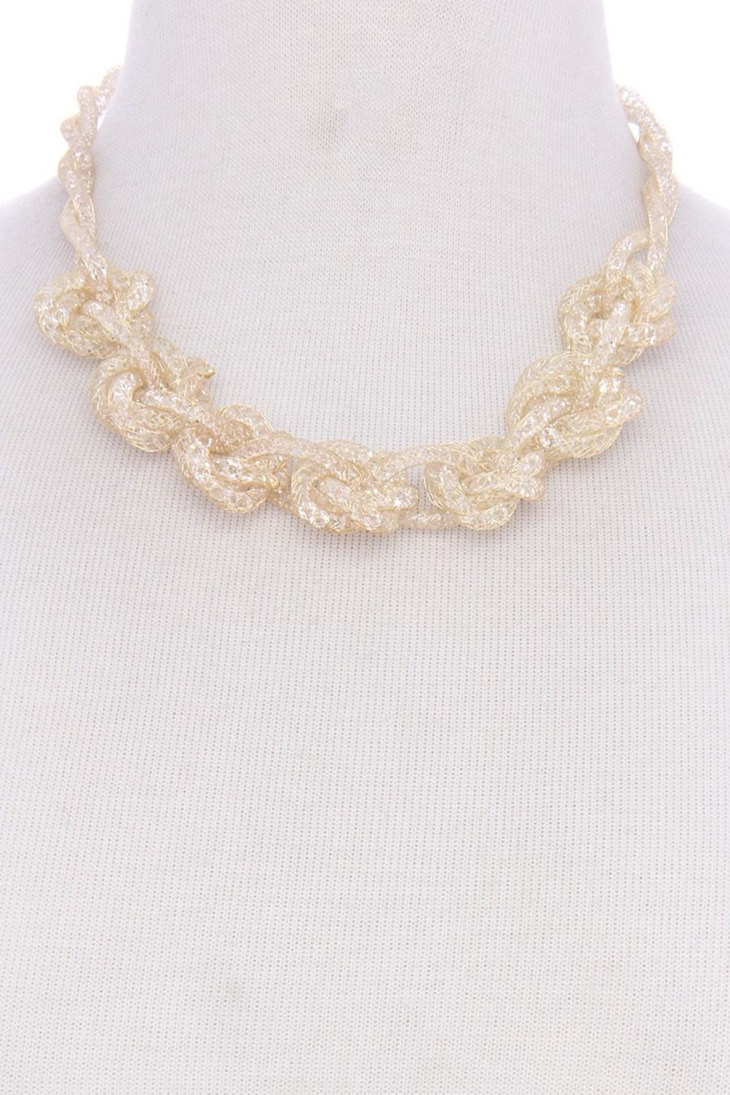 Unlabel Gold Sparkle Necklace - Front Cropped Image